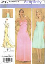 Simplicity 4215 Misses'/Miss Petite Special Occasion Dress   Sewing Pattern