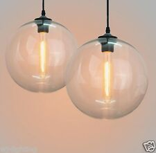 Clear Glass Shade Vintage Retro LOFT Ceiling Chandelier LED Pendant Lamp Light
