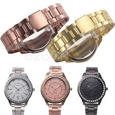 Women Men Watch Analog Luxury Stainless Steel Crystal Quartz Classic Wrist Watch