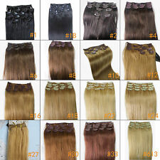 """Wholesale 20"""" Clips In Human Hair Extensions Remy Straight 75gr For Women"""