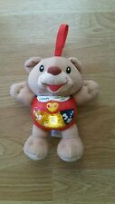 VTECH TALKING LITTLE SINGING ALFIE BEAR WITH LIGHTS AND MUSIC.