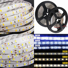 5M 3014/3528/5050/5630 SMD 300/600 Led Flexible Strip Light Waterproof Lighting