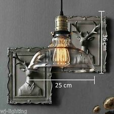 Vintage Retro LED Modern Glass Ceiling Chandelier Pendant Light Industrial Lamp