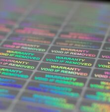 WARRANTY VOID IF REMOVED Tamper Proof Sticker Security Stickers labels (residue)