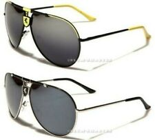 NEW SUNGLASSES DESIGNER MENS LADIES LARGE VINTAGE BIG BLACK WHITE AVIATOR UV400