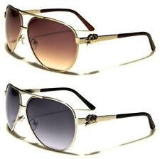 NEW BLACK SUNGLASSES DESIGNER MENS LADIES RETRO METAL LARGE BIG AVIATOR UV400