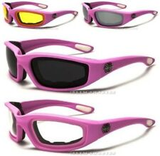 CHOPPERS GOGGLES SUNGLASSES MENS LADIES BIKERS MOTORCYCLE MOTOR BIKE WRAP PINK