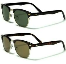 NEW BLACK DESIGNER MENS LADIES WOMENS BOYS GLASS LENS RETRO VINTAGE SUNGLASSES