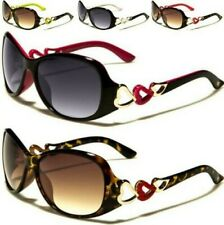 NEW SUNGLASSES BLACK DESIGNER LADIES WOMENS HEART BUTTERFLY UV400 RETRO VINTAGE