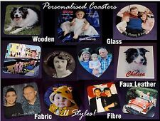 PERSONALISED ANY PHOTO / TEXT COASTER MOTHER'S DAY BIRTHDAY XMAS GIFT 11 Styles!