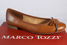 Marco Tozzi Ballerina Slipper Shoes Pumps brown NEW
