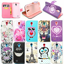 Stand Flip Leather Card Wallet Pouch Case Cover For Samsung Galaxy S4 S IV i9500