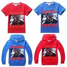 NWT Childs Boys Girls Hoodies Cool T-Shirts Unixes Top STAR WARS Printed Costume