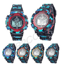 Mens LED Digital Sport Watch Alarm Date Rubber Army WATCH Waterproof Wrist Watch