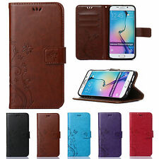 Luxury Patterne Leather Wallet Card Stand Case Cover For Samsung Galaxy/iPhone