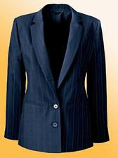 New Ladies Blazer JD Williams Smart Business Jacket Plus Size 28 UK Blue Stripes