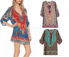 Women Sexy Summer Casual Half Sleeve Evening Party Beach Dress Short Mini Dress