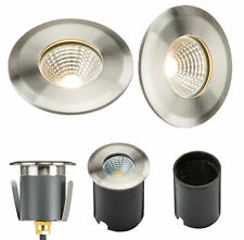 LED outdoor groundlights large medium small stainless steel recessed garden IP65
