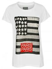 """Great ELEVEN PARIS Women's T-Shirt """"FLAG"""" in White NEW in Original Packaging"""