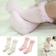 Toddler Girl Cotton Sock Lace Knee High Length Sock Baby Stockings for 0-4Y Kid