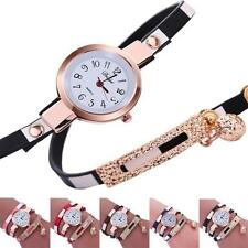 Fashion Women Watches Bracelet Slim Band Charm Chain Round Quartz Wrist Watch