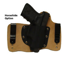 FoxX Leather & Kydex IWB Hybrid Holster (Pick Your Gun) Horse Right Tuckable