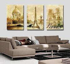 New Art Oil Painting Modern Wall Home Deco Eiffel Tower  Picture Print On Canvas
