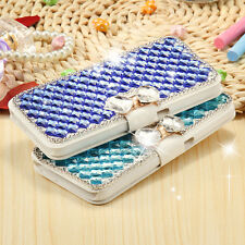 New Bling Crystal Diamond Bowknot Leather Case Cover For Samsung Galaxy/iPhone