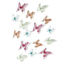 Stick-On Wall Decor, Multi-Color Butterfly 3D Stickers by Umbra Chrysalis