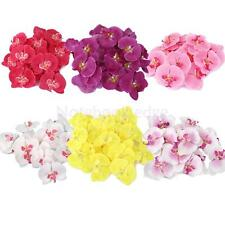20pcs Artificial Silk Butterfly Orchid Flower Heads Wedding Bridal Decor Crafts