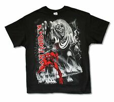 Iron Maiden Number of the Beast Jumbo B&W Print Mens Black T Shirt New Official