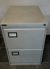 ☆☆ 2 DRAWER METAL FILING CABINET -NO KEY - GOOD CONDITION ☆☆