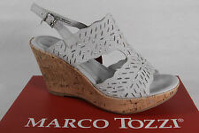 Marco Tozzi Ladies Sandals Sneakers Real leather grey new