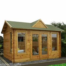 NEW Garden Log Cabin Forest Alderley Retreat Office Weatherproof Summer House