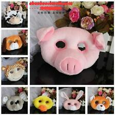 fun child plush toy cartoon animal cow giraffe duck tiger lion bear dog mask 1pc