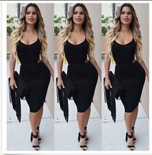 Party Cocktail Evening Women Dress Bandage Club Night Sexy Bodycon Wear Backless