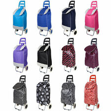 Quality Lightweight Large Festival Shopping Trolley Luggage Bag With Wheels New