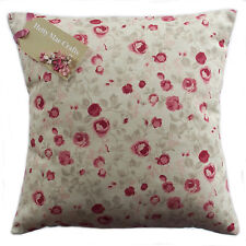 "16"" Cushion Cover in Clarke and Clarke Maude Raspberry fabric"
