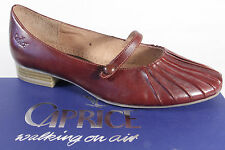 Caprice Slipper Shoes Court shoes Ballerinas Leather brown NEW