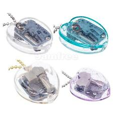 Vintage Wind Up Heart Shape Music Jewellry Box with Key Chain Musical Box 4Color
