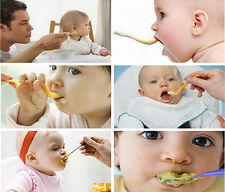 1xBaby Toddler Food Cereal Bottle Feeding Spoon Silicone Squeeze Feeder Supplies