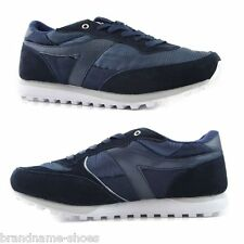 MENS NAVY DUNLOP KT26 RUNNERS WHITE BLUE SNEAKERS WIDE SHOES - BUY 1 2 3 PAIRS!