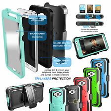Hybrid Rugged Hard Case Belt Clip Holster For Samsung Galaxy Core Prime G360