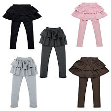 S9 Girls Skirt-pants Cake skirt kids leggings girl baby pants kids leggings