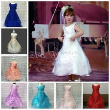 Elegant Formal Pageant Flower Girls Dress Wedding Princess Party Prom Birthday