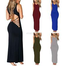Women Backless Bandage Bodycon Maxi Dress Sexy Evening Party Cocktail Long Dress