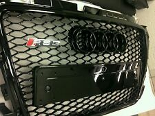 AUDI A3 8P 2008 TO 2013 FRONT GRILL RS3 DESIGN GLOSS BLACK EDITION UK
