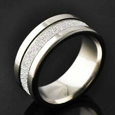 Authentic Trendy Titanium Scrub Mens Band Ring Size 8-11  Free Shipping