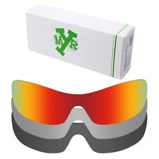 MRY POLARIZED Replacement Lenses for-Oakley Antix Fire Red / Silver / Black