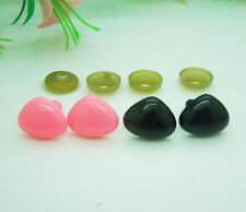 100pcs Pink Black Plastic Safety Nose Triangle For Doll Animal Stuffed Toys